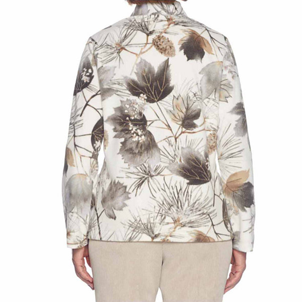 Alfred Dunner Eskimo Kiss Lightweight Fleece Jacket