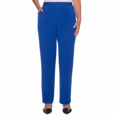 Alfred Dunner High Roller Knit Flat Front Pants