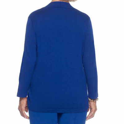 Alfred Dunner High Roller 3/4 Sleeve Crew Neck Layered Sweaters