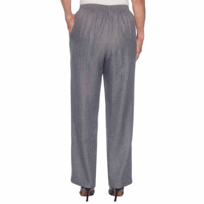 Alfred Dunner Silver Belles Womens Flat Front Pant
