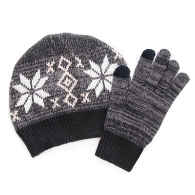MUK LUKS® Women's 2-Piece Beanie and Glove Set