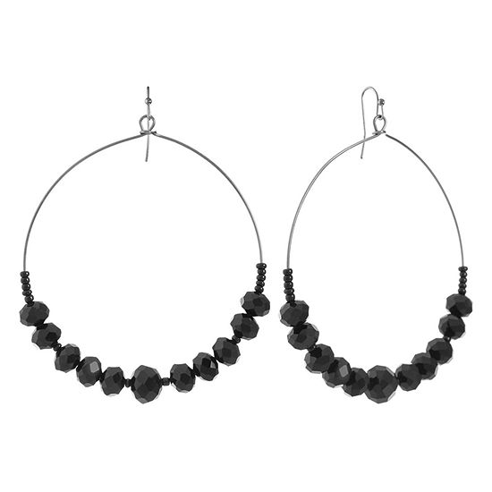 Mixit Black Drop Earrings