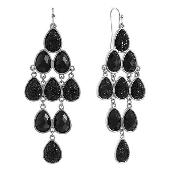 Mixit Black Chandelier Earrings