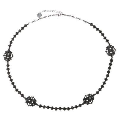 Liz Claiborne Womens Black Strand Necklace