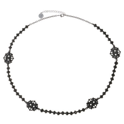 Liz Claiborne Womens Black Strand Necklace