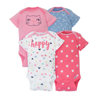Gerber 4-pc. Bodysuit Set-Baby Girls