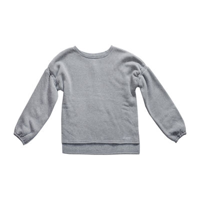 Obsess Girls Round Neck Long Sleeve Sweatshirt - Big Kid