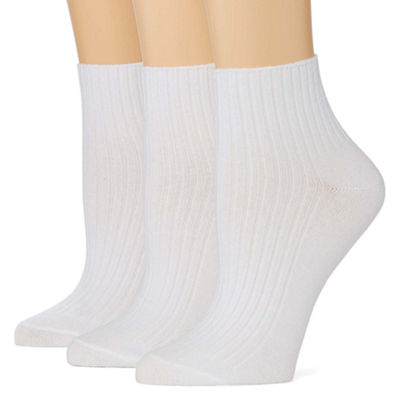 Mixit 3 Pair Quarter Socks - Womens