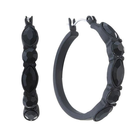 Liz Claiborne Black Hoop Earrings
