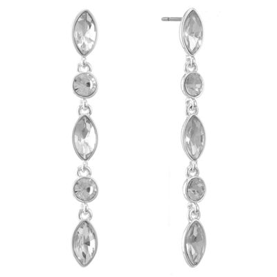 Liz Claiborne White Drop Earrings