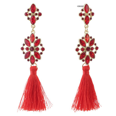 Liz Claiborne Red Drop Earrings
