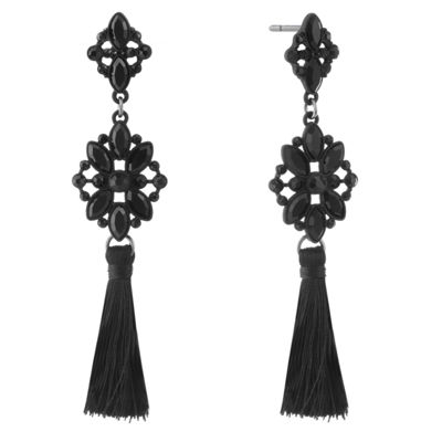 Liz Claiborne Black Drop Earrings