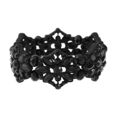 Liz Claiborne Womens Black Stretch Bracelet