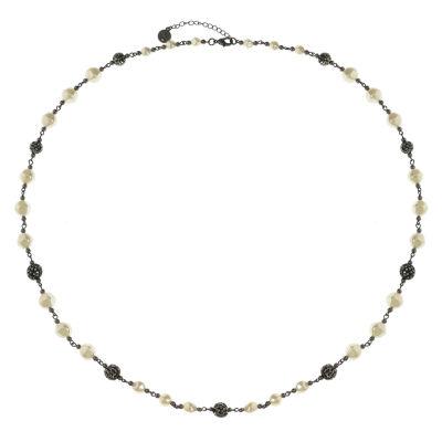 Liz Claiborne Womens Gray Strand Necklace