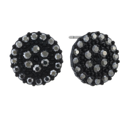 Liz Claiborne Gray 7.1mm Round Stud Earrings