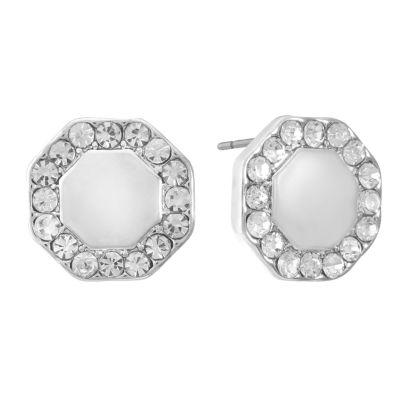 Liz Claiborne White 12mm Stud Earrings