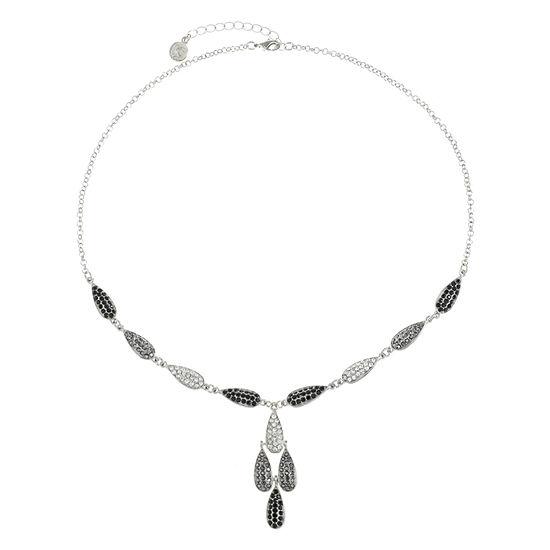 Liz Claiborne Gray 20 Inch Cable Pendant Necklace