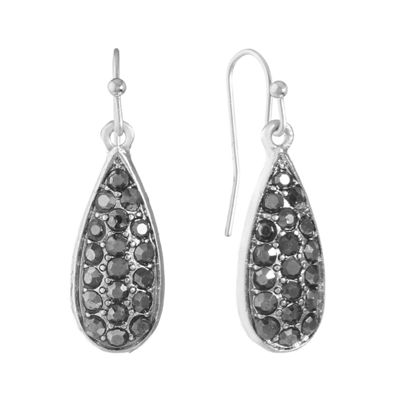 Liz Claiborne Gray Drop Earrings