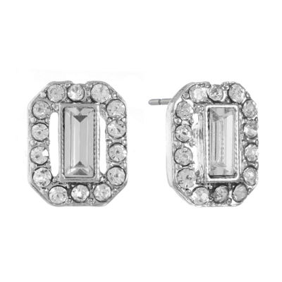 Monet Jewelry Clear 13mm Stud Earrings