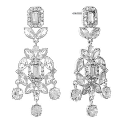 Monet Jewelry Clear Drop Earrings