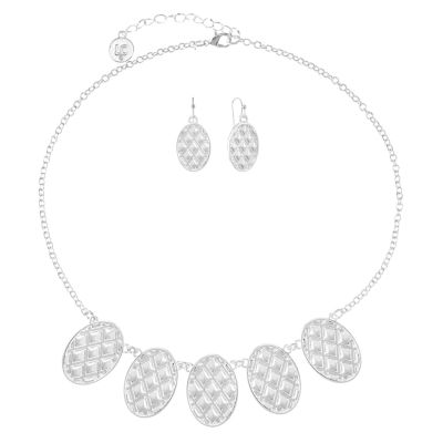 Liz Claiborne Womens Silver Tone 2-pc. Jewelry Set
