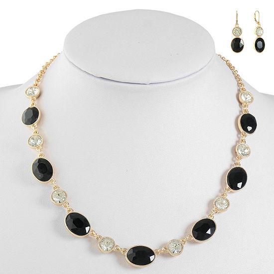 Monet Jewelry Black Jewelry Set