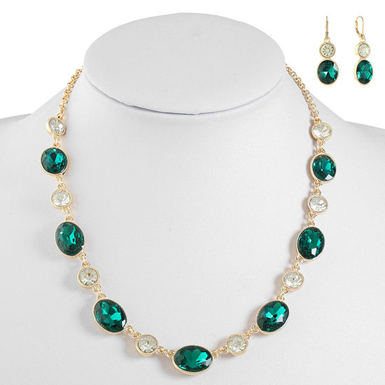 Monet Jewelry Green Jewelry Set
