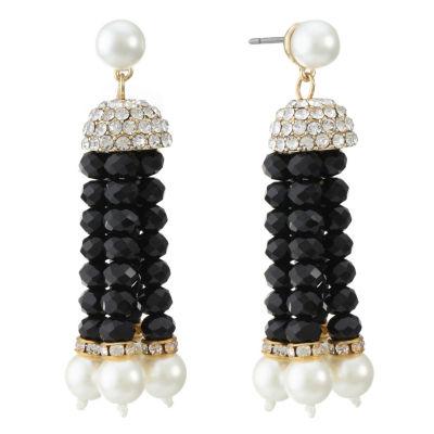 Monet Jewelry Clear Drop Earrings