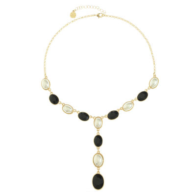 Monet Jewelry Womens Black Y Necklace