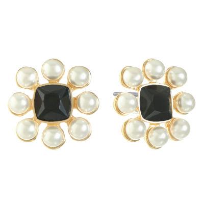 Monet Jewelry Black 17.5mm Stud Earrings