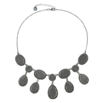 Monet Jewelry Womens Gray Collar Necklace