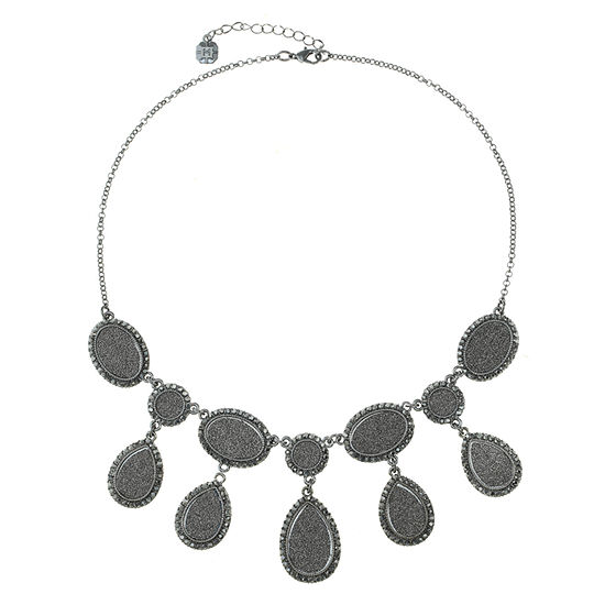 Monet Jewelry Gray 18 Inch Cable Collar Necklace