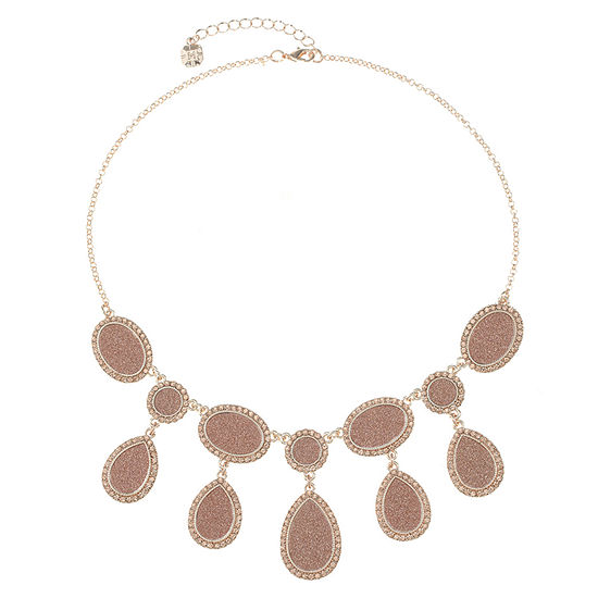 Monet Jewelry Womens Pink Collar Necklace