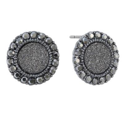 Monet Jewelry Gray 15mm Stud Earrings