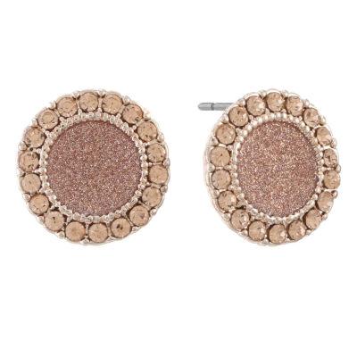 Monet Jewelry Pink 15mm Stud Earrings