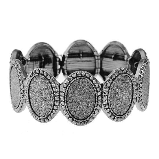 Monet Jewelry Gray Stretch Bracelet
