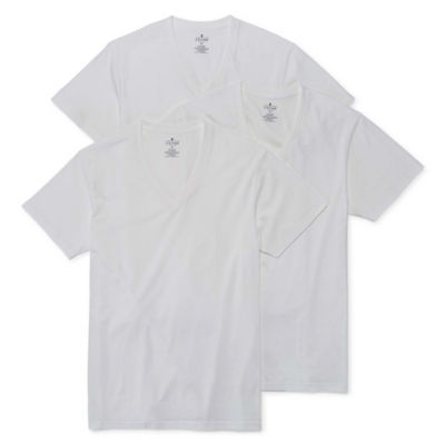 Stafford® 3-Pk. Cotton Stretch V-Neck T-Shirts