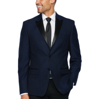 Collection by Michael Strahan Blue Jacquard Classic Fit Sport Coat