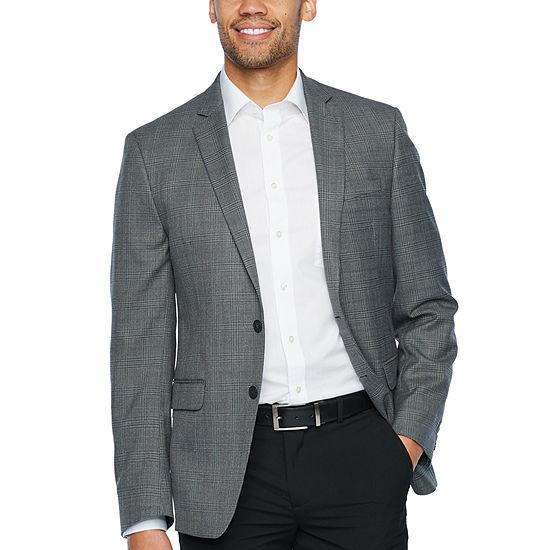 Van Heusen Gray Plaid Slim Fit Sport Coat