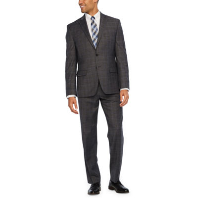 Collection by Michael Strahan Grey Plaid Classic Fit Suit Separates