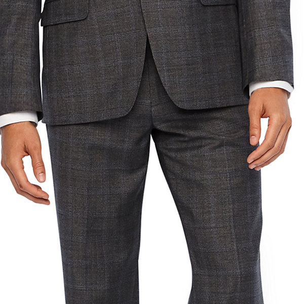 Collection by Michael Strahan  Gray Checked Classic Fit Suit Jacket
