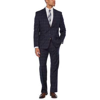 Collection by Michael Strahan Blue Plaid  Classic Fit Suit Separates