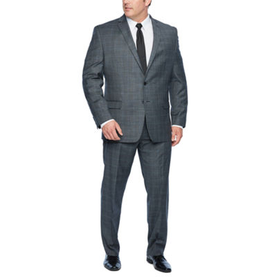 Collection by Michael Strahan Gray Plaid Suit Separates - Big & Tall
