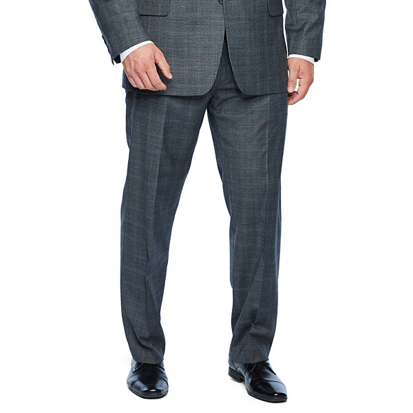 Collection by Michael Strahan  Gray Checked Stretch Suit Jacket-Big and Tall
