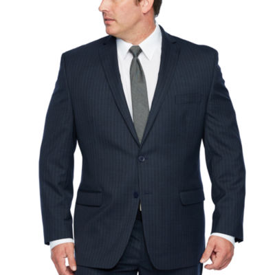 Collection by Michael Strahan  Blue Stripe Stretch Suit Jacket-Big and Tall