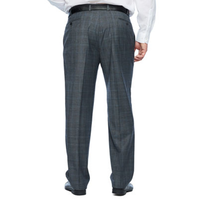 Collection by Michael Strahan  Gray Checked Classic Fit Stretch Suit Pants - Big and Tall