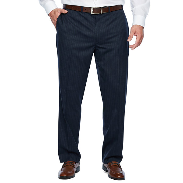 Collection by Michael Strahan  Collection By Michael Strahan Striped Classic Fit Stretch Suit Pants - Big and Tall