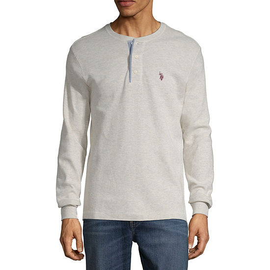 U.S. Polo Assn. Mens Henley Neck Long Sleeve Thermal Top