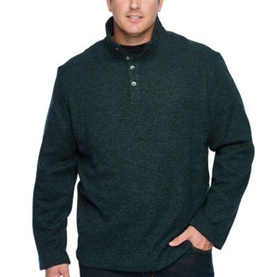 Van Heusen Collar Neck Long Sleeve Cardigan - Big and Tall