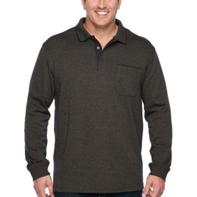 Van Heusen Long Sleeve Polo Shirt -Big and Tall